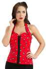 VOODOO VIXEN 8 BALL HALTER TOP ROCKABILLY PIN UP RETRO 50'S SHIRT SEXY TPA1649 $19.99 USD on eBay