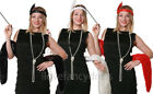 LADIES FLAPPER FANCY DRESS SET HEADBAND FUR STOLE PEARL NECKLACE CIG HOLDER 20S