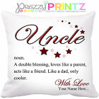 PERSONALISED NOUN UNCLE CUSHION BIRTHDAY CHRISTMAS GIFT FATHERS DAY LOVE UNIQUE