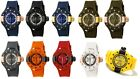 Invicta Swiss GMT Sporty S1 Racer Large Tachymeter Polyurethane Band Date Watch