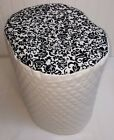 Black & White Floral Damask Food Processor Cover (2 Sizes Available)