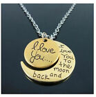 I Love You To The Moon and Back Necklace women mum Necklaces Pendants gift bag