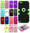 iPod Touch 6 6th Gen Rubber IMPACT TUFF HYBRID Skin Case Cover +Screen Protector