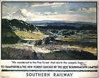 Vintage Southern New Forest Railway A3 Print