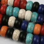 5x Howlite Turquoise Loose Stone European Beads Fit Charms Snake Bracelet DIY