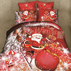 Christmas Man Single/Double/King Bedding Quilt/Duvet Cover Set New Cotton Linen