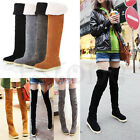 Women Lady Fashion Over the Knee Flat Heel Warm Winter Snow Thigh High Long Boot