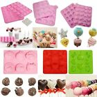 Silicone Lollipop Chocolate Cake Cookie Muffin Candy Jelly Baking Mold Xmas Gift