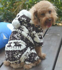 Cute Pet Dog Puppy Warm Winter Soft Sweater Hoodie Jumpsuit Coat Clothes Outwear