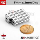 "Внешний вид - 25 100 1000pcs 5mm x 2mm 3/16""x1/16"" N52 Strong Rare Earth Neodymium Magnet Disc"