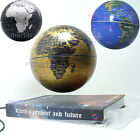 "Rotating Magnetic Levitron Levitation Floating 6"" Globe World Map Brown Earth"