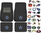 New 4pcs NFL Pick Your Team Car Truck Front Rear Back Carpet Floor Mats Set $25.89 USD on eBay