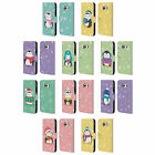 HEAD CASE KAWAII CHRISTMAS PENGUINS LEATHER BOOK CASE FOR SAMSUNG PHONES 1