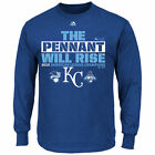 Kansas City Royals 2015 American League Champions Locker Rm Long Sleeve T-Shirt on Ebay