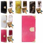 For LG Phone Magnetic Diamond Flip Leather Card Slot Wallet Pouch Case Cover