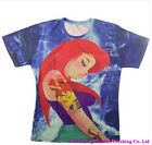 2015 New Fashion Womens/mens Ropa Mujer Ariel 3d Print Casual T-shirt