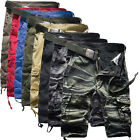 Men's Cargo Pants Casual Military Combat Army CAMO Shorts Trousers Size 32 34 36