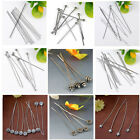 Silvery Headpins Ball/flat/flower/star Top Head Pins Finding Diy Jewellery Craft