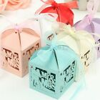 12pcs Sweets Mr Mrs Paper Candy Ribbon Boxes Shower Wedding Party Favors Gift
