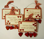 Country Style Wall Hanging Sentiment Plaque