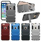 """Shockproof Rugged Hybrid Rubber Hard Cover Case for iPhone 6s 6 4.7"""" 6 Plus 5.5"""""""