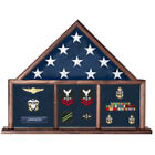Usaf Shadow Box, Flag Medal Case Hand Made By Veterans