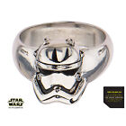 Disney Men's Licensed Stainless Steel Episode 7, 3D Star Wars Stormtrooper Ring