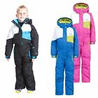 Trespass Wiper Kids Unisex Ski Suit Warm Winter Hooded Jumpsuit for Boys Girls