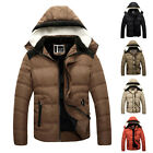Mens Winter WARM Handsome Coat Jacket Parka PADDED Overcoat Hooded Outwear TOPS