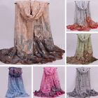 Women Lady Soft Long Neck Large Scarf Wrap Shawl Voile Silk Stole Scarves Gift