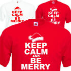 Childrens Keep Calm and be merry,Christmas costume T shirt Fancy Dress,Ages 1-15