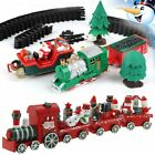 Musical Light Christmas Train & Carriages  Christmas Tree Set Wooden Train Gift