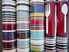 Stripe Wallpaper Border:Spicy City Folkloric Silverware Fork Knife Spoon Red NEW
