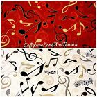 ALL THAT JAZZ FABRIC~BY THE YD~2 COLORS~U-PICK~COTTON~ROBERT KAUFMAN~MUSIC