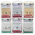Single Double Dimmer Switch White Chrome Brushed Brass Twin 1 Gang 2 Way Plastic