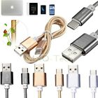 1M Heavy Duty Matal+Nylon Type-C 3.1 Male to Male USB2.0 Sync Data Charger Cable