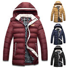 CHEAP MENS Hooded Parka Parker Padded Lined Winter Jacket Coat Outwear S M L XL