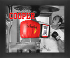 Sir Henry Cooper Our Henry Signed Boxing Glove on Printed Poster