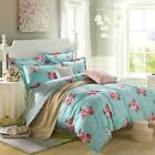 Peony Quilt Duvet Doona Cover Set Queen/King Size Floral Bed Flat Sheet Set New