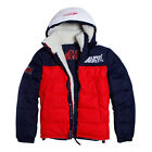 Mens Supa Winter Sherpa Jacket Fleece Lined Puffer Bubble Casual Quilted L