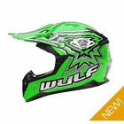 Wulfsport Kids Childrens Childs Flite Xtra Motocross Quad Bike Helmet - Green