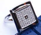 MODERN CONTEMPORARY LADIES Russian CZ .925 Sterling Silver Ring Sizes 6-9
