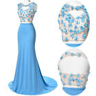 Sexy Women New Long 2 Pcs Set Prom Gown Cocktail Bridesmaids Evening Party Dress
