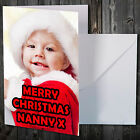 12 x Personalised A6 Greeting Cards Your Photo Christmas+envs New baby