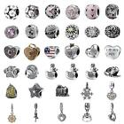 S925 Sterling Silver Beads Pendants for 3mm Charm Bracelet Christmas Gift L83G