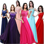 1 Wedding Bridesmaid Model Cocktail Prom Lace Beaded Formal Evening Maxi Dress