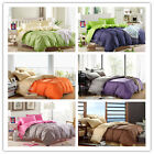 Single/Double/Queen/King Bed Linen New Cotton Quilt/Doona Cover Set 6 Colors