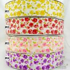 "1.5""38mm White Red/Purple/Yellow/Red Rose Grosgrain Ribbon Hairbow Craft 1Yard"