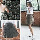 Fashion Cotton Floral Pleated Circle Skater Full Flare Mini Short Summer Skirt
