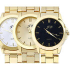 Womens Luxury Men Watches Gold Classic Analog Quartz Stainless Steel Wrist Watch